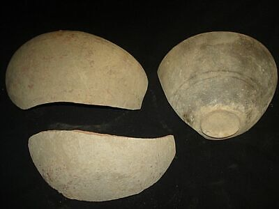 Very nice ANCIENT BOWL SHARDS~ISRAEL~ TIME OF ABRAHAM! 2000BC