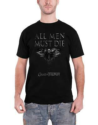 Game Of Thrones T Shirt All Men Must Die Crow Logo Season 8 Official Mens black