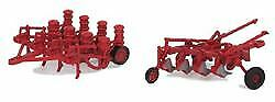 Walthers Scenemaster Ho Scale Farm Plow & Planter Red 949-4162