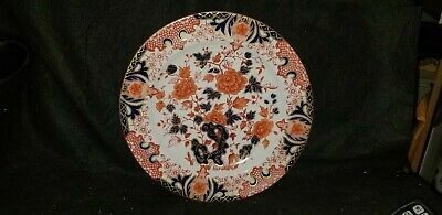 "ANTIQUE ROYAL CROWN DERBY 1721 PATTERN English IMARI PORCELAIN dinner plate 10""+"