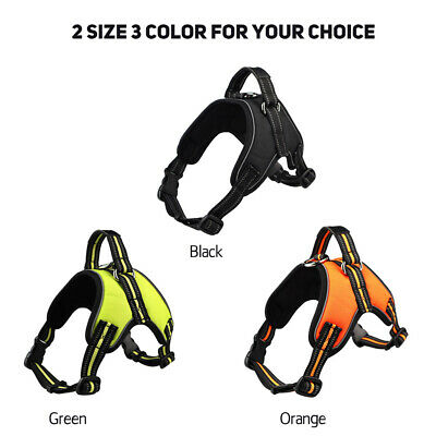 Soft Padded Reflective Dog Harness Adjustable Pet Dog Puppy Lead Leash #D