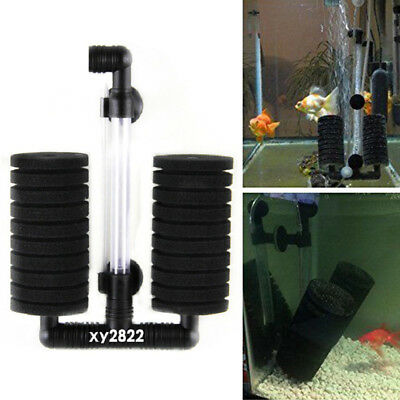 Biochemical Sponge Filter Fry Aquarium Fish Tank Double Sponge Water Filter Tool