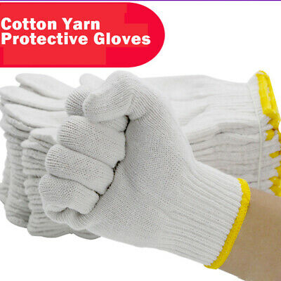 White Cotton Gloves Cut Resistant Work Safety Gloves - High Performance