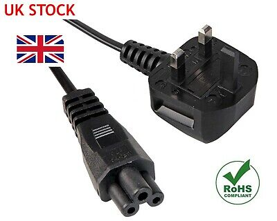 2m C5 Cloverleaf 3 Pin Mains Power Cable UK Lead for LG TV