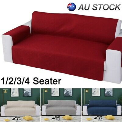 1/2/3/4 Seater Sofa Cover Couch Lounge Recliner Slipcover Protector Waterproof