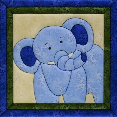 Quilt-magic No Sew Wall Hanging Kit-elephant