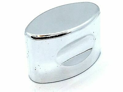 2 x  OVAL PULL KNOBS 35mm polished chrome handles cupboard knob cabinet  (43)