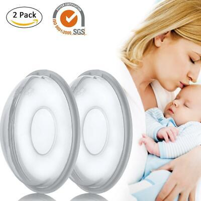 2 Pcs Reusable Breast Shell Milk Collection Nursing Cup Soft Saver Protect