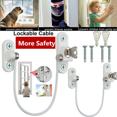2Pcs Window Door Restrictor Safety Locking UPVC Child Security Wire Cable