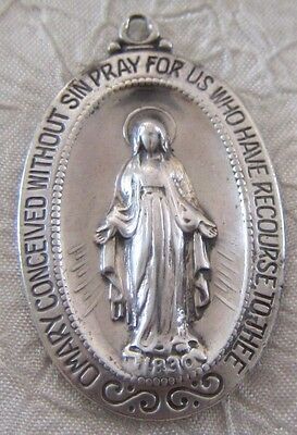 Vintage Catholic Religious Holy Medal - Miraculous Medal BEAUTIFUL Classic Style
