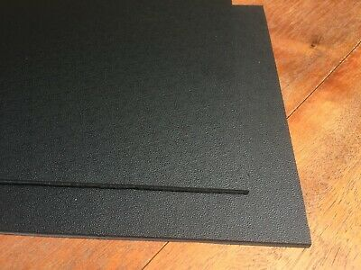 Black textured ABS Plastic Sheet 4mm  610 x 457 mm great for car trimmimg