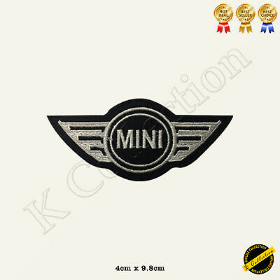 MINI Car Brand Logo Racing Sponsor Embroidered Iron On/Sew On Patch Badge