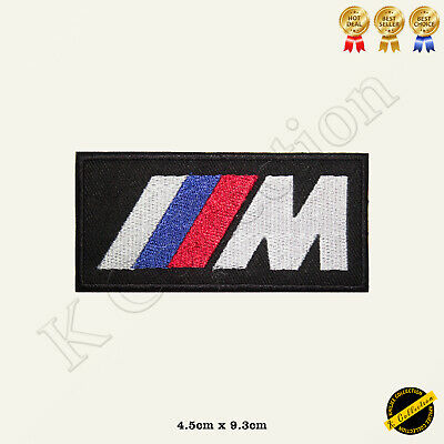M Power Car Brand Logo Racing Sponsor Embroidered Iron On/Sew On Patch Badge