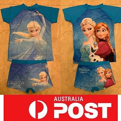 Good Quality Frozen Bathers, Girls Bathers, with top and shorts, AU stock