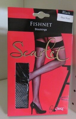Fishnet Stockings by Scarlet - Black/One Size - Free Postage