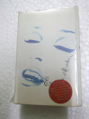 MADONNA EROTICA RARE CASSETTE tape 1992 INDIA CLAMSHELL red STICKER unseen !!