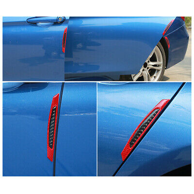 4x Reflective Warning Strip Tape Car Bumper Strips Secure Stickers Decals Safety