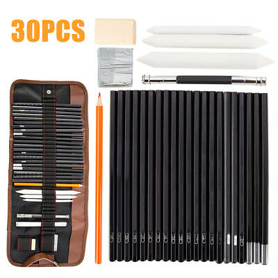 30 Set Drawing Sketching Sketch Charcoal Pencil Pens Stationery Artist Painting.