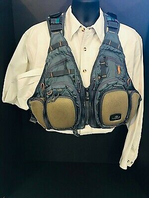 SHIPPING--CLAY COLOR NEW FISHPOND FLINT HILLS MESH FLY FISHING VEST FREE U.S