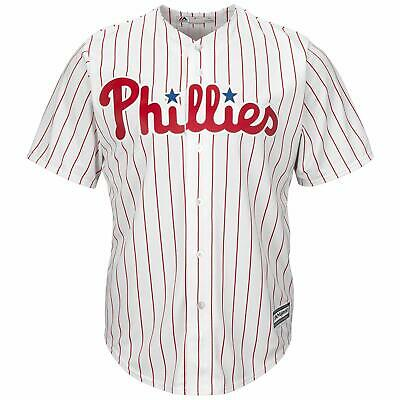 Majestic Philadelphia Phillies Home Cool Base Jersey Mens Size UK M White/Red