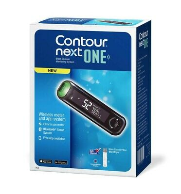 Bayer Contour Next ONE Wireless Blood Glucose Monitor +100 test strips Novalang