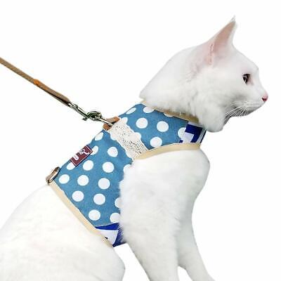 Yizhi Miaow Escape Proof Cat Harness with Leash Medium, Adjustable Cat Walking