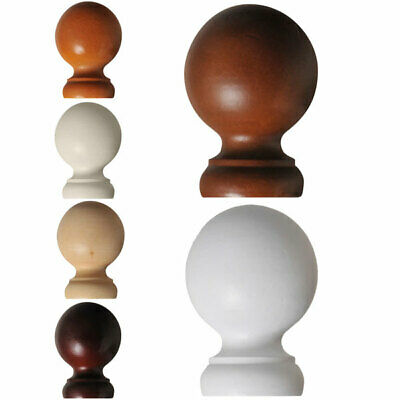 Renaissance Standard 28mm Wooden Curtain Pole Finial, Pair