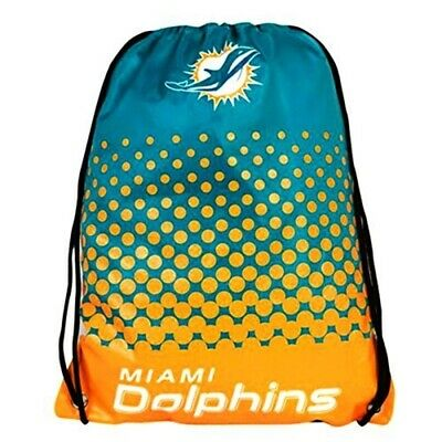Forever Collectibles Miami Dolphins Fade Nfl Drawstring Backpack - Gym Bag