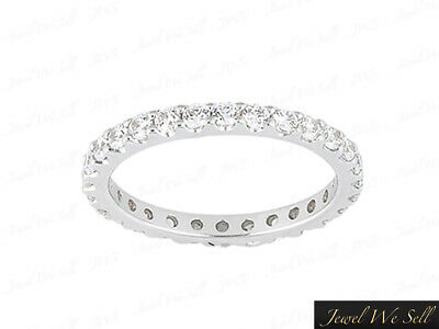 Shared Prong Eternity Band Ring 1ct Natural Round Cut Diamond Solid 950 Platinum