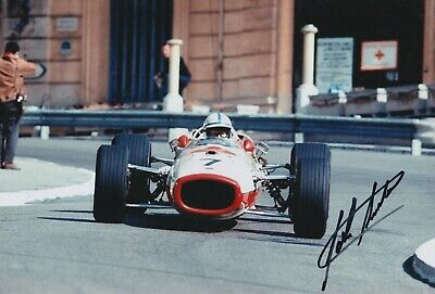 John Surtees Hand Signed 12x8 Photo - Honda F1 Autograph.