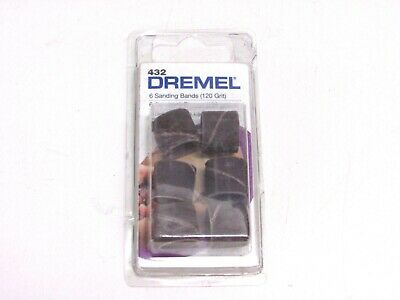 "4 NEW! DREMEL 6-Pack 1/2"" 120 GRIT SANDING BANDS #432 for ROTARY TOOL"