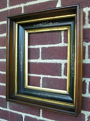 Antique Nicely Carved Eastlake Victorian Deep Picture Frame Double Gilt 8 x 10