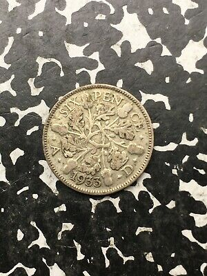 1933 Great Britain 6 Pence (6 Available) Silver! Circulated (1 Coin Only)