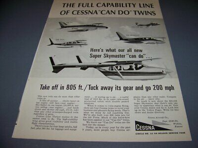 CESSNA Skymaster Twin  6 pages Giant Scale RC AIrplane PDF Plans on
