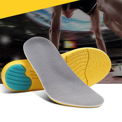 Silicon Insoles Foot Care Pads for Plantar Fasciitis Heel Mat Running Sport FBL
