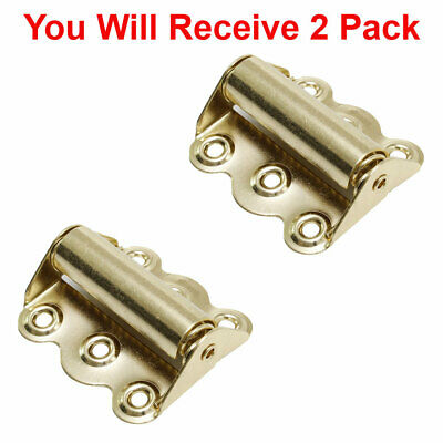 (2-Pack) Screen Door Hinge Hardware Self-Closing Easy Install Polished Brass