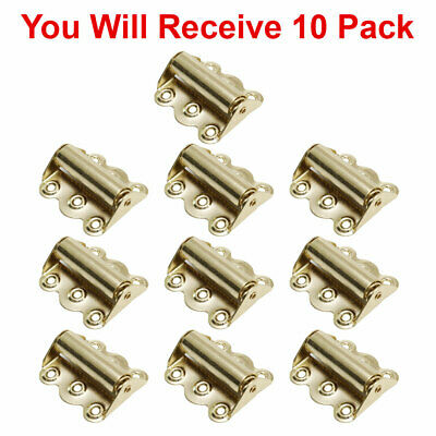 (10-Pack) Screen Door Hinge Hardware Self-Closing Easy Install Polished Brass