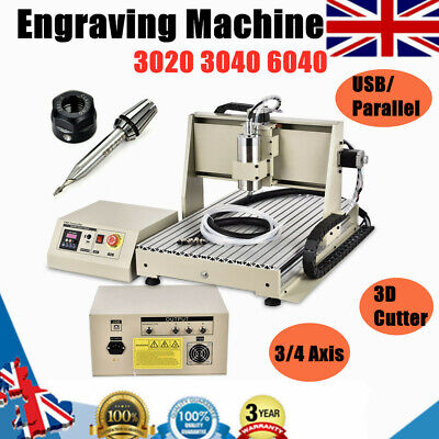 3040 6040  USB CNC 3/4Axis  Router Engraver 800/1500W Engraving Drilling Machine