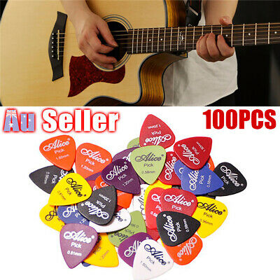 100PCS Picks Electric 6 Thickness with Case Plectrum Various Acoustic Guitar