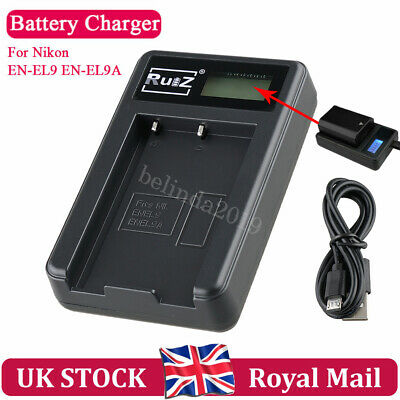 For EN-EL9 EN-EL9A Nikon D3000 D5000 D40 D40X D60  Camera USB Battery Charger