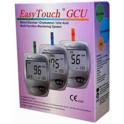Multi Function Easy Touch GCU 3 in 1 Glucose Cholesterol uric Acid