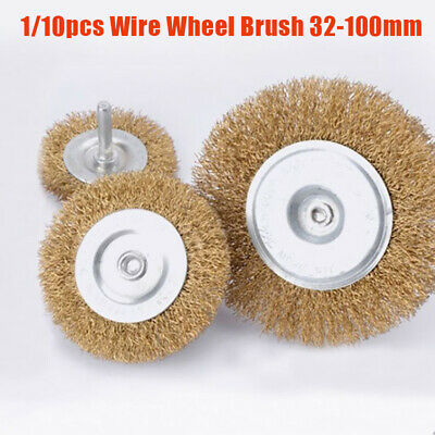Wire Wheel Brush Set For Drill, Steel Brass Metal Cleaning Rust Sanding