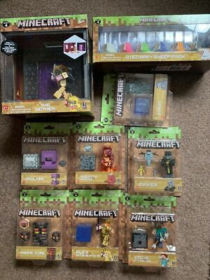MINECRAFT SERIES 4 FIGURES BIOME And Dyed Sheep Choice