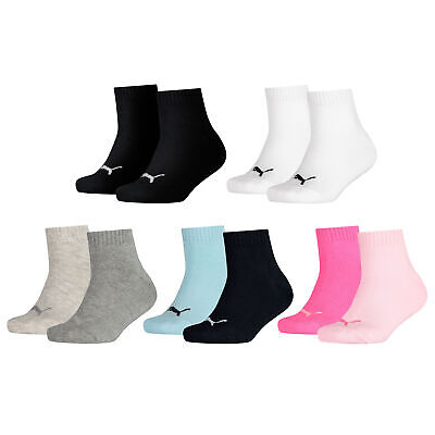Puma 2 Paar QUARTERS Kinder Socken kurze Strümpfe Socks Junior Kids 271315