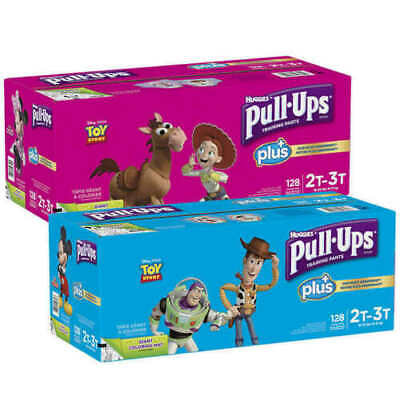 Huggies Pull-Ups Plus Training Pants Diapers for Boys-Girls Size 2T-3T-4T-5T