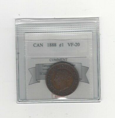1888 ,Coin Mart Graded Canadian, Large One Cent, **VF-20**
