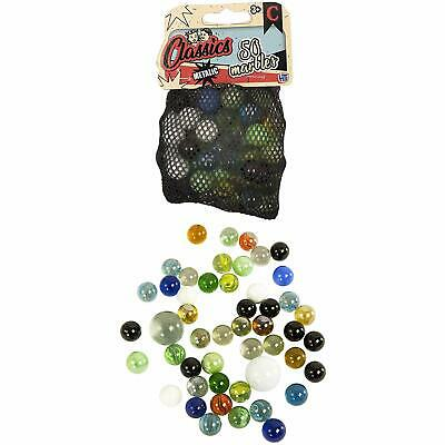 1 x NET OF HTI Toys Classic Metallic Pack of 50+2 Marbles (TP225)