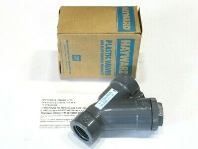 "1"" Hayward YS10100T PVC Y-Strainer Threaded NEW IN BOX"