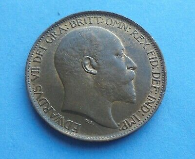 Edward VII, 1902 Halfpenny, Great Condition.