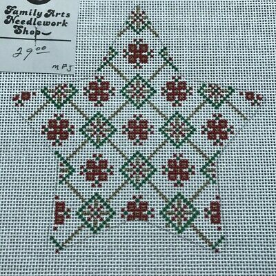 Hand painted Needlepoint Canvas18 mesh Christmas Geometric Star SLV 361